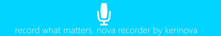 Nova Recorder ad